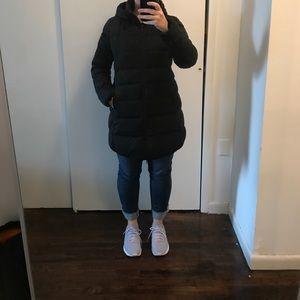 Uniqlo dark grey down coat